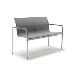 Pure Stainless Steel 2-Seater Bench | Garden benches | solpuri