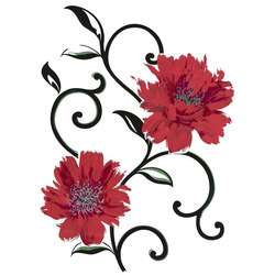Spirit | Flow/Flowers Blume Metallic | Wall stickers | Hornschuch