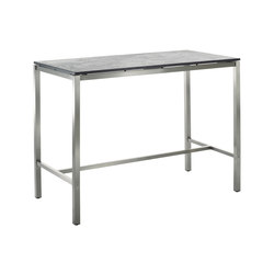 Classic Stainless Steel Ceramic Bar Table | Mesas altas de jardín | solpuri