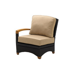 Plantation Reclining Left End Unit | Poltrone da giardino | Gloster Furniture