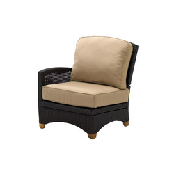 Plantation Reclining Left End Unit | Garden armchairs | Gloster Furniture