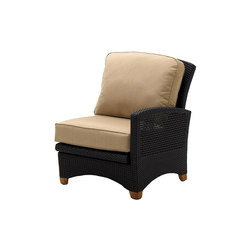 Plantation Reclining Right End Unit | Poltrone da giardino | Gloster Furniture