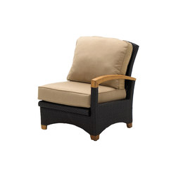 Plantation Reclining Right End Unit | Fauteuils de jardin | Gloster Furniture GmbH