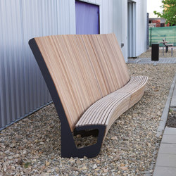 landscape | Curved park bench with high backrest | Exterior benches | mmcité
