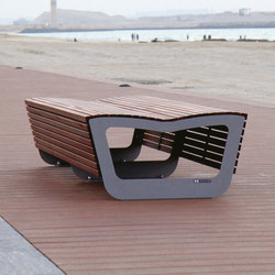 landscape | Two-sided park bench | Exterior benches | mmcité