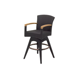 Plantation Swivel Bar Chair with Arms | Bar stools | Gloster Furniture