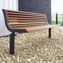 diva solo | Park bench with backrest | Panche da esterno | mmcité