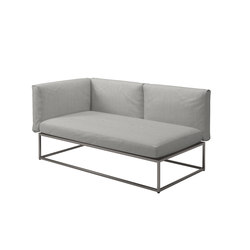 Cloud 75x150 Left End Unit | Garden sofas | Gloster Furniture GmbH