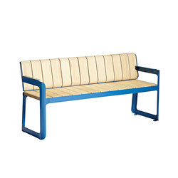Air bench with backrest | Garden benches | Vestre