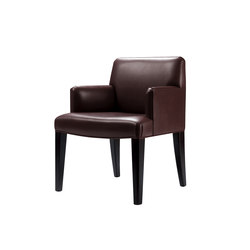 Isotta low padded backrest large chair with arms | Sillas | Promemoria