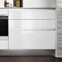 Materials | Lacquer glossy | Fitted kitchens | SieMatic