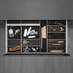 Interior | Aluminum interior accessories, smoked chestnut | Kitchen organization | SieMatic