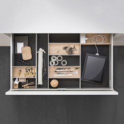 Interior | Aluminum interior accessories, light oak | Kitchen organization | SieMatic
