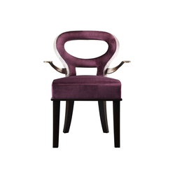 Roka chair with arms | Chaises | Promemoria