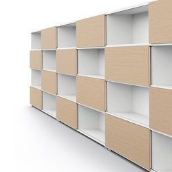 DV522-Bookshelve with sliding doors | Shelving systems | DVO