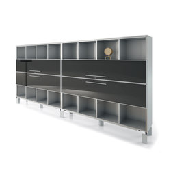 DV521-Bookshelve with sliding sash-doors | Regalsysteme | DVO