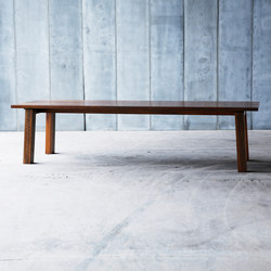SPO MTM African Walnut Table | Tables de restaurant | Heerenhuis