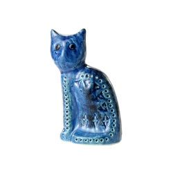 Rimini Blu Figura gatto seduto | Objects | Bitossi Ceramiche