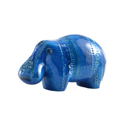 Rimini Blu Figura Ippopotamo | Objects | Bitossi Ceramiche