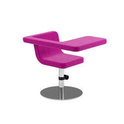 Clip easy chair | Lounge-work seating | Materia