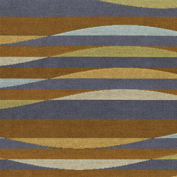 Ebb & Flow 4130 210 Copper Current | Recycled cotton | Anzea Textiles