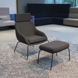 Blue Armchair with sled base | Poltrone lounge | Palau