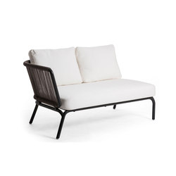 Yland 2 Seater Arm Left | Garden sofas | Oasiq