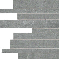 Back Grey Strips | Mosaics | Keope