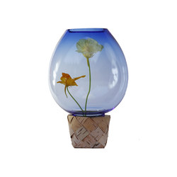 Flower Trap | Blue with flowers | Vases | Utopia and Utility