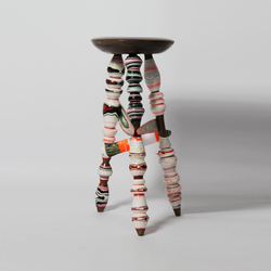 Processed Paper | Harlequin stool | Barhocker | Utopia and Utility