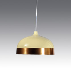 Glaze Pendant Lamp 33 Cream & Copper | General lighting | Innermost