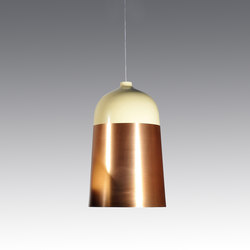 Glaze Pendant Lamp 32 Cream & Copper | General lighting | Innermost