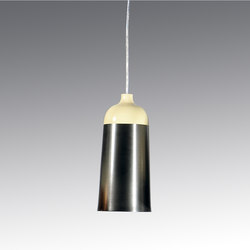 Glaze Pendant Lamp 14 Cream & Charcoal | General lighting | Innermost