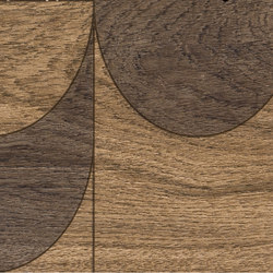 Bio Timber | Oak Patinato Scuro compass | Ceramic slabs | Lea Ceramiche