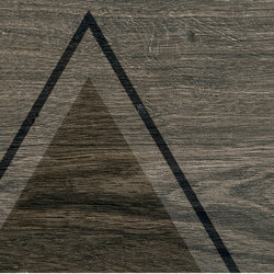 Bio Timber | Oak Grigio Scuro triangles | Lastre | Lea Ceramiche