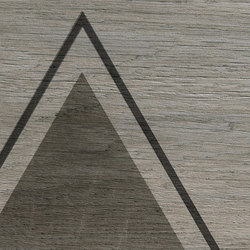 Bio Timber | Oak Grigio triangles | Ceramic slabs | Lea Ceramiche