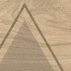 Bio Timber | Oak Patinato Chiaro triangles | Keramik Platten | Lea Ceramiche