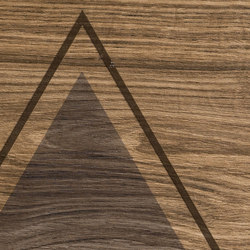 Bio Timber | Oak Patinato Scuro triangles | Keramik Platten | Lea Ceramiche