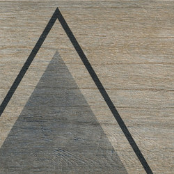 Bio Timber | Oak Provenzale triangles | Lastre | Lea Ceramiche