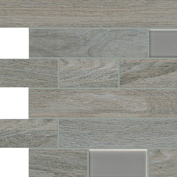 Bio Timber | Oak Grigio mosaico wall | Floor tiles | Lea Ceramiche