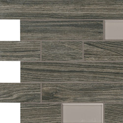 Bio Timber | Oak Grigio Scuro mosaico wall | Floor tiles | Lea Ceramiche