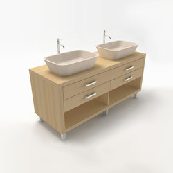 Duo vanity cabinet | Armarios lavabo | Zaninelli