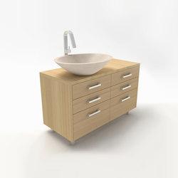 Linear vanity cabinet | Armarios lavabo | Zaninelli