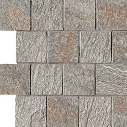 In&Out - Percorsi Quartz Mosaico Grey | Mosaïques | Keope
