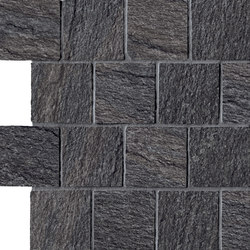 In&Out - Percorsi Quartz Mosaico Black | Mosaïques | Keope