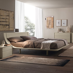 Aqua upholstered Bed | Double beds | Presotto