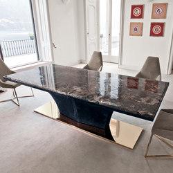 Esstische mit tischplatte aus marmor hochwertige for Tischplatte rund marmor