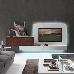 InclinART Cor-ten | AV cabinets | Presotto