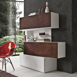 InclinART Cor-ten | Shelving systems | Presotto