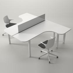 Syst mes de tables de bureau avec plateau de forme libre de for Bureau pour 2 personnes